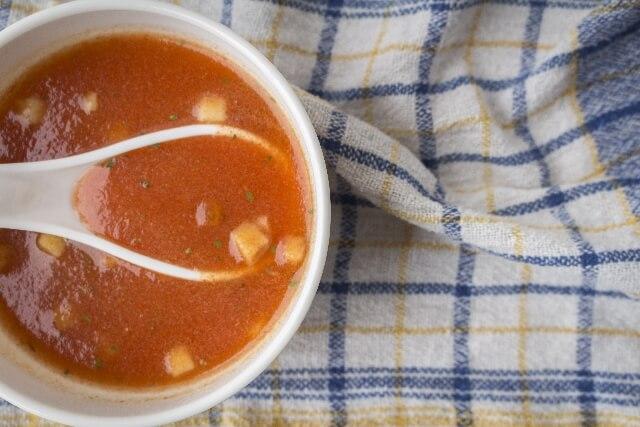 トマトのさっぱり生スープ