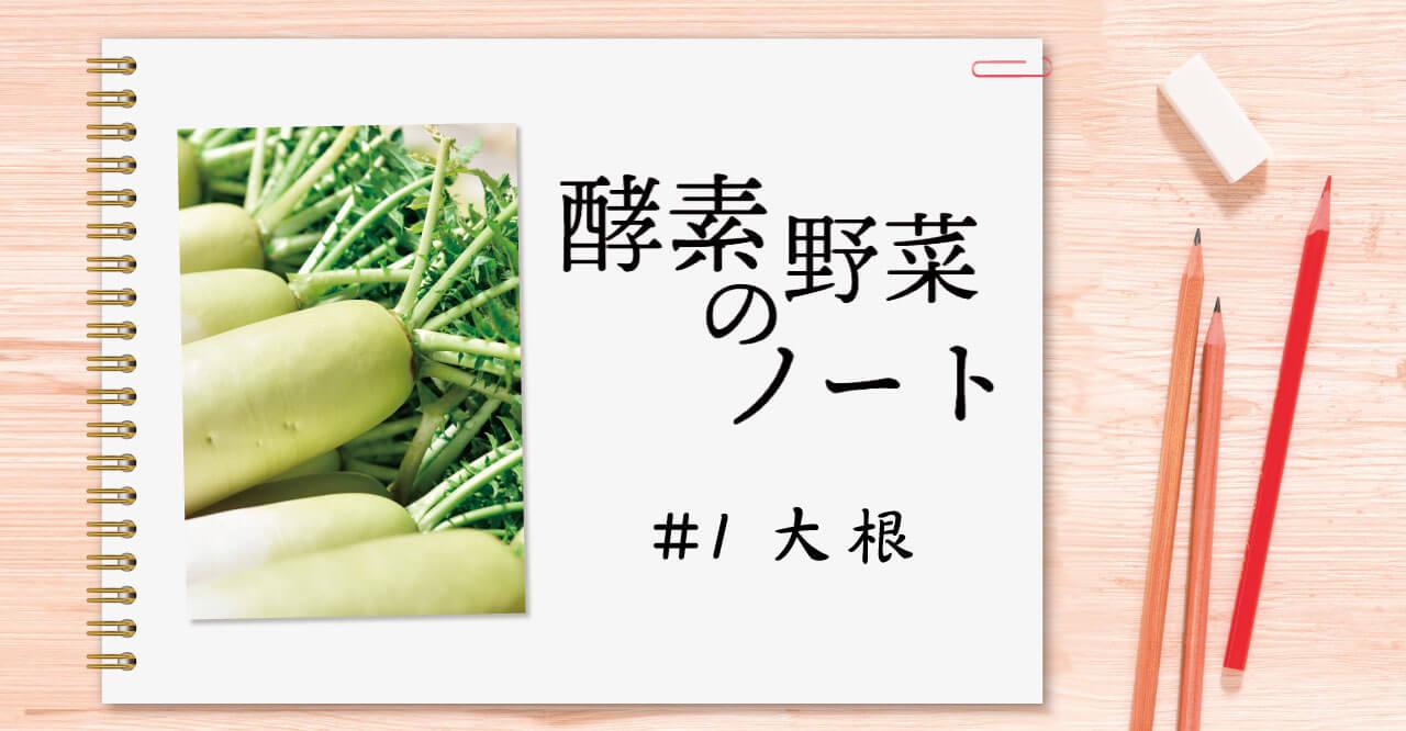 酵素野菜のノート #01 大根